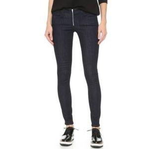 NWOT 3x1 Exposed zipper black skinny jeans 27 26L